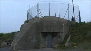World War Two ammunition bunker at Mont Cuet