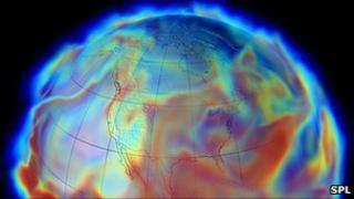 Computer simulation of global humidity