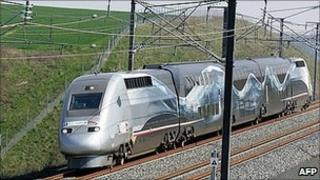 French TGV high-speed train (file pic)