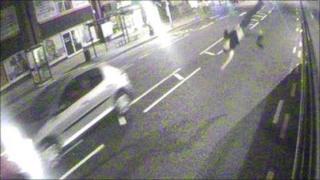 CCTV of hit-and-run impact