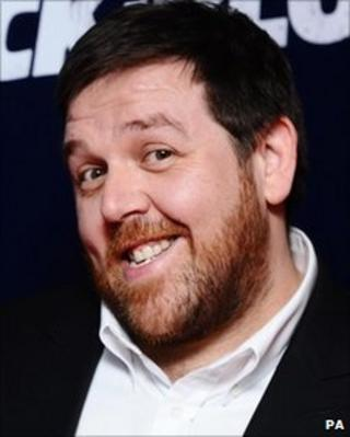 Nick Frost arrives at the premiere of Attack The Block at The Vue cinema, Leicester Square