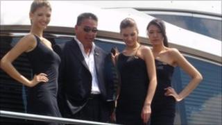 Gordon Hui, centre left