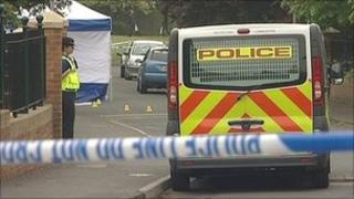 Scene of murder in Cleckheaton