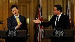 File photo dated 21/12/10 of Prime Minister David Cameron (right) and Deputy Prime Minister Nick Clegg