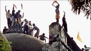 The Babri Mosque was torn down by Hindu zealots in 1992