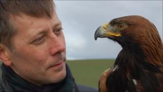 BBC Scotland's David Miller looks at an eagle
