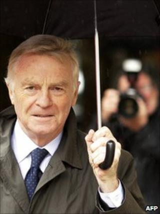 Max Mosley. Pictured on July 9, 2008