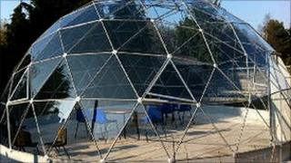 Solar dome at Brooke House School in Cosby, Leicestershire