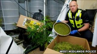 Sgt Wayne Reynolds who took part in cannabis raids
