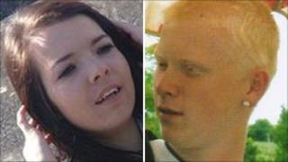 Anwen Busby, 16, and Jai Burkes, 19