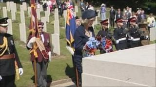 Duchess of Cornwall at Hastings Cemetery
