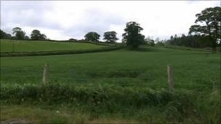 Site of proposed school in Ffairfach