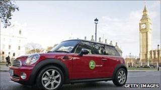 A Zipcar mini