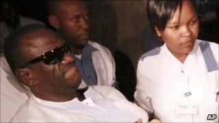 Kizza Besigye in hospital in Nairobi, Kenya - 29 April 2011