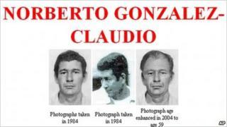 Images of Norberto Gonzalez Claudio on the FBI website