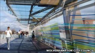 Artists impression of glass artwork