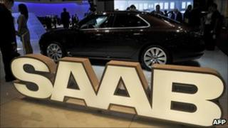 Saab display at this year's Geneva motor show