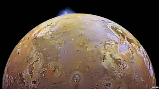 Io pictured by Galileo