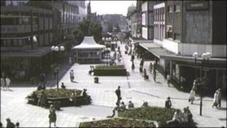 Picture of Southend High Street taken in 1986 for the BBC's Domesday project