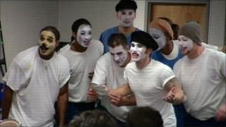 Acting workshop at Norco Prison