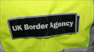 A UK Border Agency officer