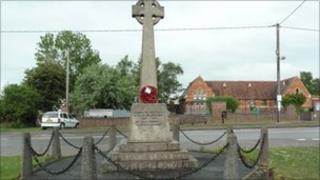 War memorial at Hackleton.