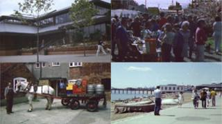 Montage of images of Suffolk from the Domesday Project