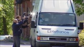 Photographers outside Kilmarnock Sheriff Court