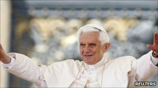 Pope Benedict XVI leads his weekly audience at the Vatican, 11 May, 2011