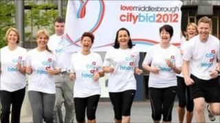 Some members of the city bid team