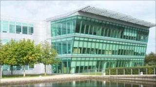 Watermark building at Alba Campus