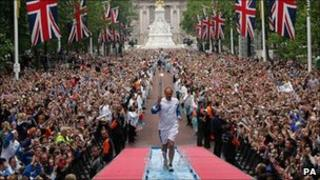 Steve Redgrave carrying the Olympic torch