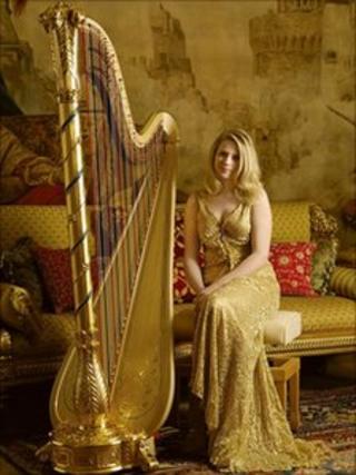 Harpist Claire Jones