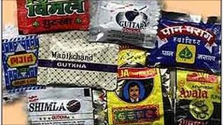 Pre-packaged 'paan masala' pouches