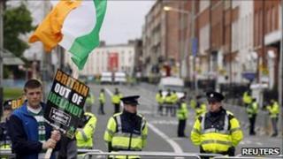 Dublin police protests