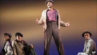 A scene from the off-Broadway production of The Scottsboro Boys