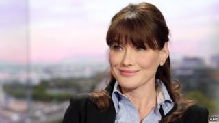 Carla Bruni on set of French TV TF1 (16 May 2011)