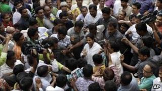 Mamata Banerjee's supporters