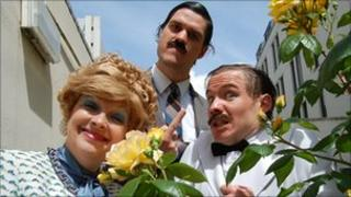 Fawlty towers trio