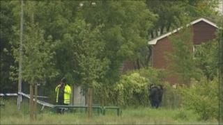 Police at scene of rape in Gorton