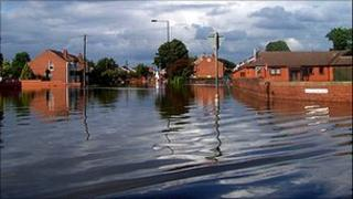 Toll Bar in 2007 when it became flooded