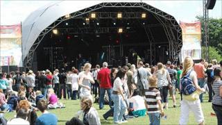 Godiva Festival stage