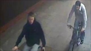 CCTV image of two of the attackers