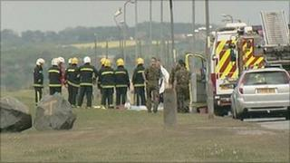 Scene of car explosion in Hartlepool