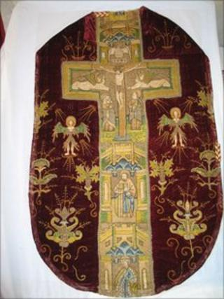Chasuble from St John's Roman Catholic Church in Poulton (picture courtesy of the church)