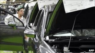 Honda production line in Japan