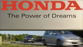 Entrance to the Honda factory in Swindon