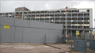 Derelict Royal Mail building in Bristol