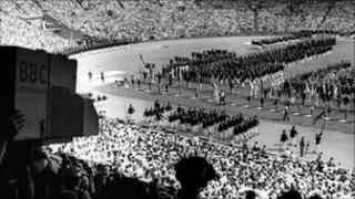 Opening ceremony at 1948 Games