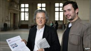 Augustin Scalbert (right) and Pierre Haski
